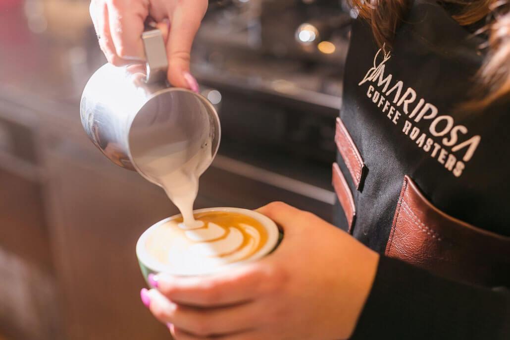 mariposa latte art